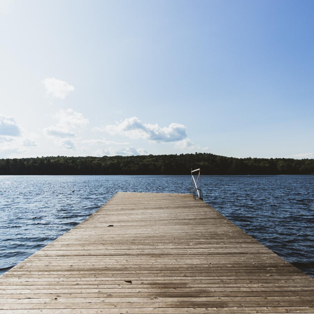 photo of a dock on a lake