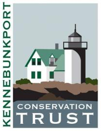 Kennebec Conservation trust logo lighthouse on rockly island